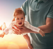 Father and his baby Stock Image
