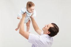 Father with his baby son Royalty Free Stock Photo