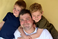 Father and his boys Royalty Free Stock Photos