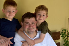 Father and his boys Royalty Free Stock Photography