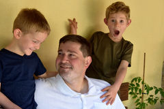 Father and his boys Stock Images
