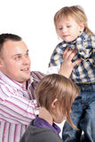 Father and his children Royalty Free Stock Images