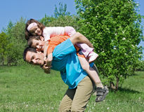 Father with his children Royalty Free Stock Photos