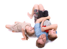 Father and his cute children Stock Photography