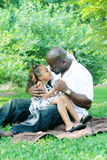 A father and his daughter Royalty Free Stock Photos