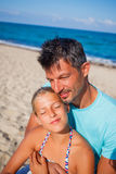 Father and his daughter at beach Royalty Free Stock Images