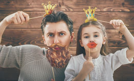 Father and his daughter Royalty Free Stock Photos