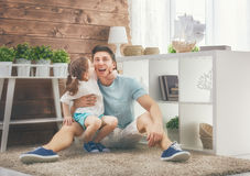Father and his daughter Stock Photography