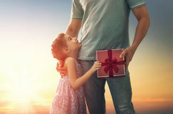 Father and his daughter Royalty Free Stock Photography