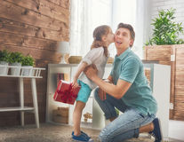Father and his daughter Royalty Free Stock Images