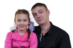 Father with his daughter Royalty Free Stock Image