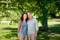 Father with his daughter looking at the camera Royalty Free Stock Image