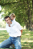 Father with his daughter on nature Stock Image