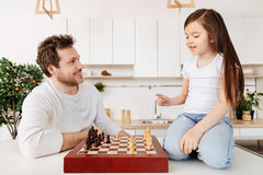 Father and his daughter starting the game royalty free stock photography