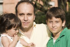Father and his kids Stock Photography