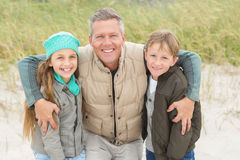 Father and his kids enjoying a day out Royalty Free Stock Photos