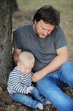 Father with his little baby boy Royalty Free Stock Images