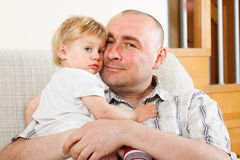 Father with his little daughter stock photography