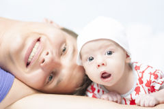 Father with his little son Stock Photos