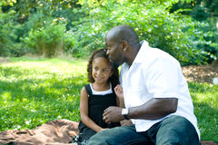 A father and his mixed race daughter Stock Photo