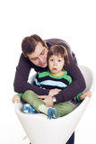 Father and his pained son Royalty Free Stock Photography