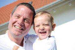Father - his portrait, laughing heartily Royalty Free Stock Photography