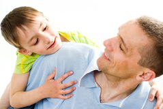 Father with his son Royalty Free Stock Photos
