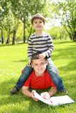 Father with his son in the park Stock Photos