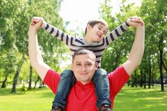 Father with his son in the park Royalty Free Stock Images