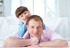 Father and his son Royalty Free Stock Photos