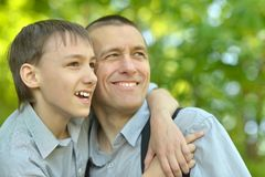 Father and his son Stock Photography