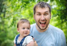 Father and his son Royalty Free Stock Photo