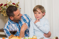Father with his son sitting on lap Royalty Free Stock Image