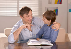 Father and his son sitting Stock Photo