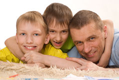 Father with his sons Royalty Free Stock Photos