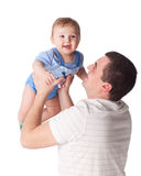 Father and  his sweet  baby Stock Images