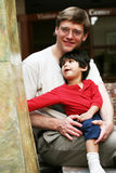 Father with his toddler son; Royalty Free Stock Images