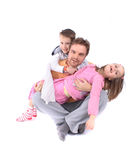 Father and his twins Royalty Free Stock Image