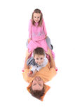 Father and his twins Royalty Free Stock Images