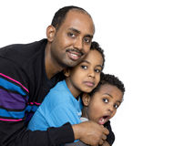 Father and his two boys Royalty Free Stock Photography