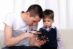 Father and his young son Stock Photography