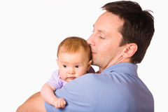 Father hold baby Royalty Free Stock Images