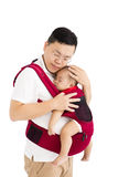 Father  holding a baby Stock Photo