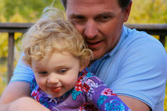 Father holding baby girl royalty free stock images