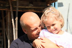 Father holding daughter Royalty Free Stock Photography