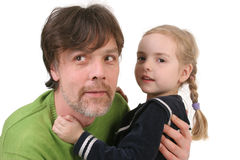 Father holding his daughter Stock Photography
