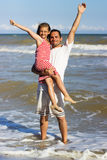 Father holding his daughter Royalty Free Stock Images