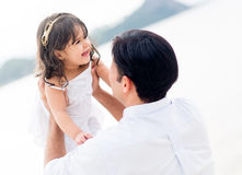 Father holding his little girl Stock Photography