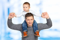 Father holding his little son Royalty Free Stock Image