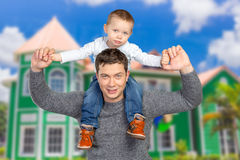 Father holding his little son Royalty Free Stock Photo